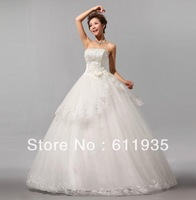 free  shipping   In 2013, the latest sweet flower lace wedding dress