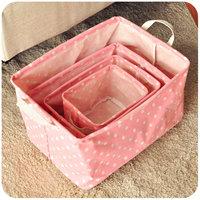 Free shipping Hearts . brief rustic fabric storage basket dirty clothes basket debris basket polka dot canvas storage basket