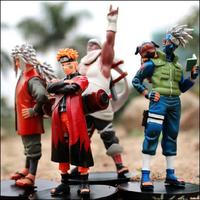 Naruto figure set Jiraiya Kakashi Naruto 4pcs/lot pvc 13cm in height NAFG124