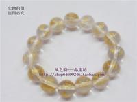 Natural white crystal bead bracelet male Women bracelet 12mm 14mm