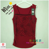 Double layer gauze basic vest high elastic wide strap small vest fashion zhong yi han a3163