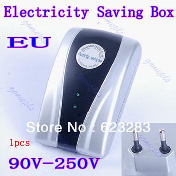 Free Shipping1pcs  New Type Power Electricity Saving Box Energy Saver EU Plug 90V-250V