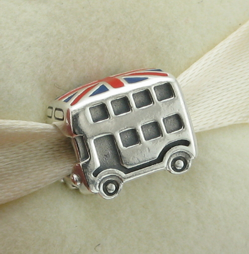 Stamped 925 ALE 100% 925 Sterling Silver Charm London Bus Fits Pandora Style Bracelet , Free Shipping(China (Mainland))
