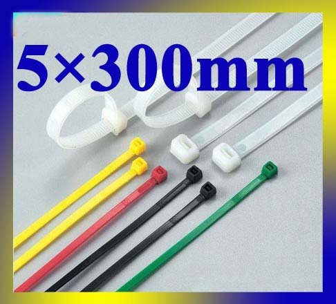 5mm*300mm velcro strap,marker strap,white color high quality 250pcs/lot nylon cable tie(China (Mainland))