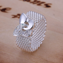 R071 Butterfly Web Ring 925 silver ring,high quality ,fashion jewelry, Nickle free,antiallergic(China (Mainland))
