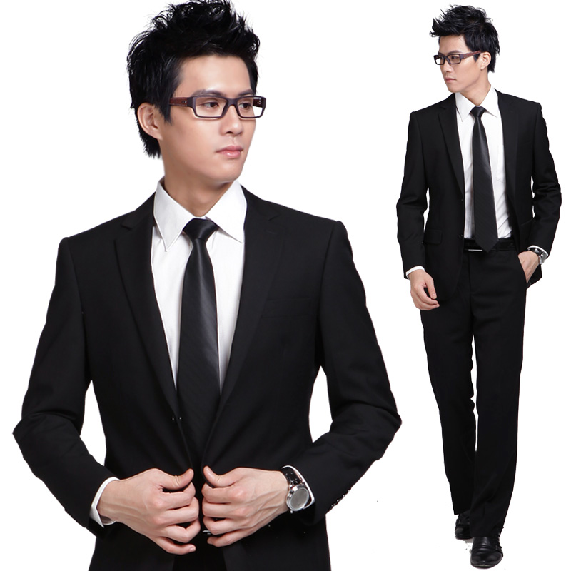 Suit male set slim work wear male business formal wedding dress suits(China (Mainland))