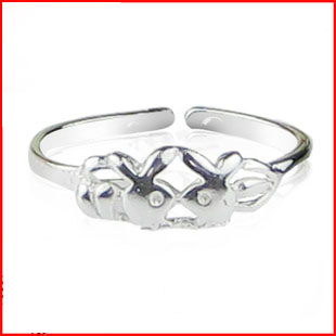 Silver ring rabbit ring open ring adjustable size of accessories ring female(China (Mainland))