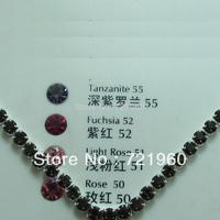 SS28 Black  jet  ASFOUR 888 rhinestone cup chain