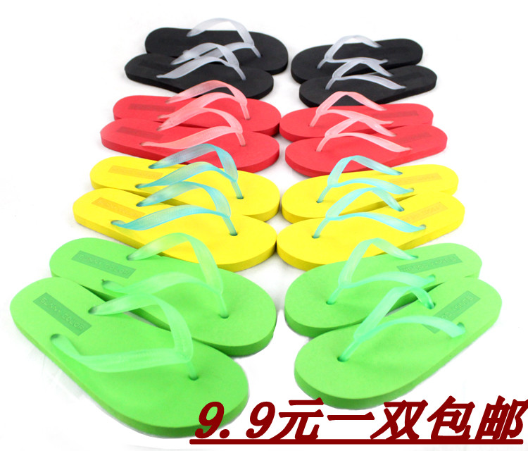 lovers belt female sandals of light lovers sandals fashion male slippers(China (Mainland))