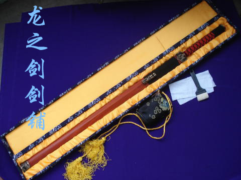 Longquan sword - town house sword technology sword gift sword mahogany han jian(China (Mainland))