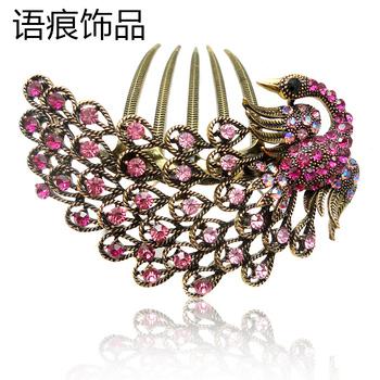 Accessories insert comb rhinestone peacock comb hair accessory hair pin vintage hair accessory d21