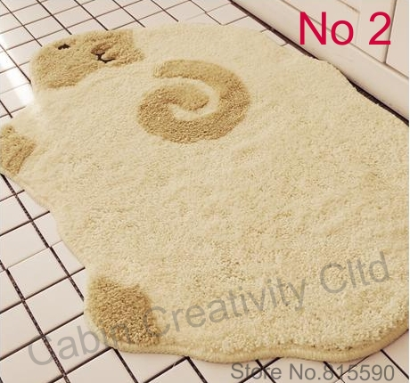 Sheep carpet/rug, high pile, cute cartoon floor carpet,45x55cm,FreeShipping(China (Mainland))