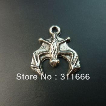 160 pcs/lot Bat tibet silver floating charms pendants Free shipping