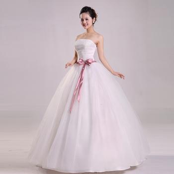 Diamond princess bride wedding dress formal dress spring married 2013 tube top bow wedding dress
