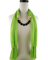 (Min Order Is $20) Scarf,Black box pendant,Gold Color Accessories,16 Colors,180*40cm,Free Shipping Wholesale