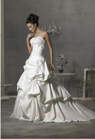 2013 factory produce wholesale retail Wedding dress gown wedding dress 2013 wedding 2012 satin slim short trailing tube top