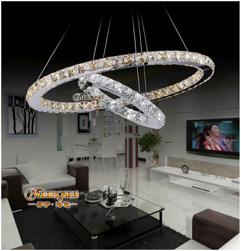 High quality modern crystal decorative led lighting MD8825-D600+400(China (Mainland))