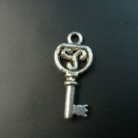 300 pcs/lot Key tibet silver floating charms pendants Free shipping