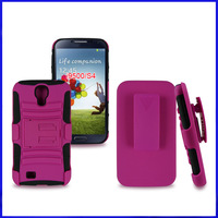 500pcs/lot, 2 in 1PC+ silicon Case for Samsung Galaxy S4, DHL free shipping