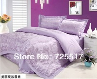 Free DHL Shipping ! Hot Sale High Quality Jacquard Tencle 4PC Home Textile Bedding Set Covers