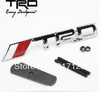 Free shipping (20pieces/lot) TRD Metal Emblem/Badge/Logo Alloy Car Logo Grill Badge for car decoration car tuning