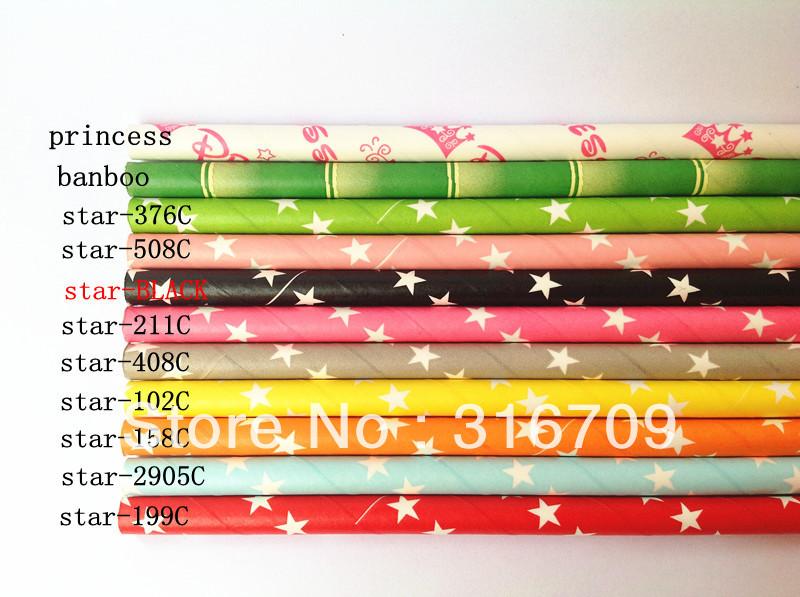 140 Designs You Can Pick 10000PCS 19.5MM Paper Straws Wholesale Drinking Paper Straws Free Ship Via DHL/EMS/FEDEX(China (Mainland))