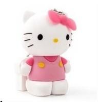 Free Shipping 10pcs/lot Cartoon 2GB 4GB 8GB pink  Hello Kitty Cat USB Flash Pen Disk