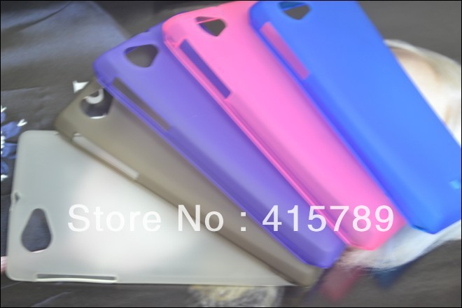Wholesale 100 pcs/lot Colourful Soft Frosted Skin TPU Case Cover for Sony Xperia J ST26i , DHL Free Shipping(China (Mainland))