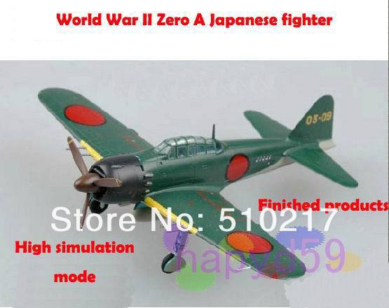 5pcs free ship 1/72 finished world war II piston propeller fighter model military aircraft model Zero Japanese fighter(China (Mainland))
