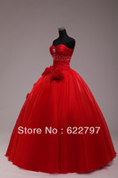 2013 newest women fashion sexy sweetheart beaded ball gown with red wedding dresses