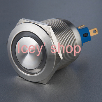 Latching Anti-vandal Push Button L22 (Dia.22mm) Ring illuminated Stainless steel