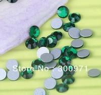Free shipping 1440pcs 2mm SS6 Emerald color flat back rhinestone, Non HotFix Rhinestones for DIY crystal rhinetones