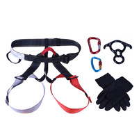 Free Shipping waist 90-105cm  leg 52-77cm device five pieces set descent control device aerial belts protective case