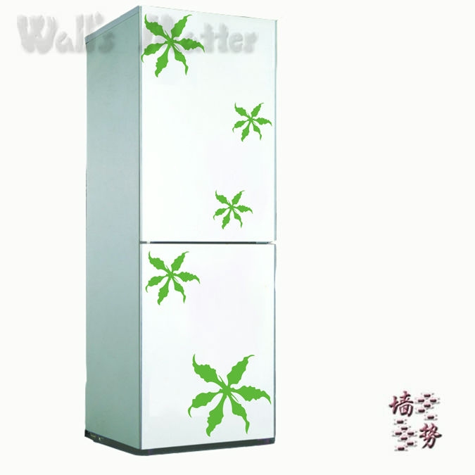 Fashion refrigerator sticker kitchen cabinet bedroom wardrobe decoration wall stickers diy refrigerator sticker(China (Mainland))