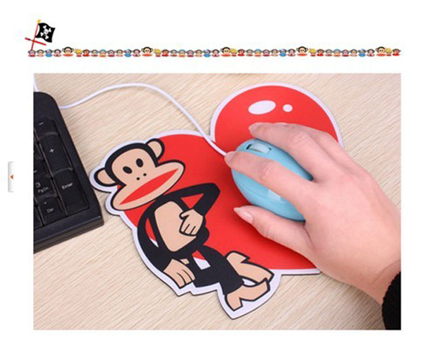 2013 Korean style big mouth monkey Mouse Pad,,,20x21cm ,EVA & PVC Material,50 pcs /lot Free shipping(China (Mainland))