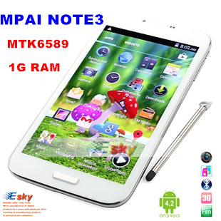 2013 New Hot selling Free shipping Note 3 MTK6589 Quad core Android 4.2 OS 6.0 inch dual card dual standby 3G mobile phone(China (Mainland))
