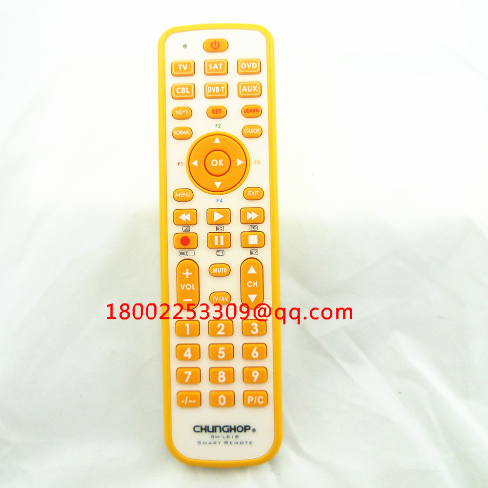Freeshipping Chunghop RML618 2AAA Combinational remote control learn for TV SAT DVD CBL DVB-T AUX universal remote controller(China (Mainland))