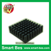 Smart Bes!100 Piece a lot aluminum heat sink 28*28*8mm Free shipping by Singarpore post