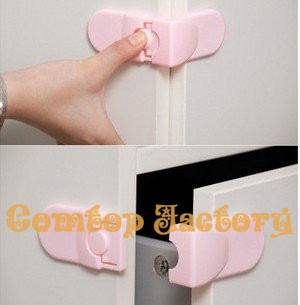 Fedex Free shipping Wholesale Baby Drawer Safety Lock For Door Cabinet Refrigerator Window,Baby safe products.baby care(China (Mainland))