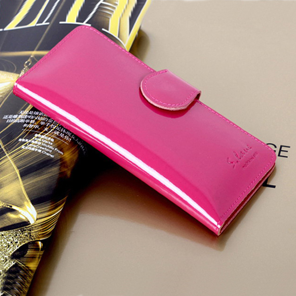 2013 fashion hasp wallet japanned leather pearl women&#39;s design cowhide long wallet(China (Mainland))