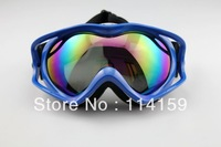 Colorful Lens Blue Winter Sport Goggles Snowmobile Ski eyewear Hiking Off-Road