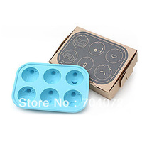 free shipping Funny Facial Expression Shaped Ice Tray Mold (Random Color)  ICE CUBE TRAY