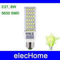 High Power Green Led Corn Bulb AC 85-265V LED Light Corn Lamp Bulb Lighting E27 8W 28 leds 5730 SMD Energy Saving Free Shipping