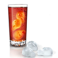 free shippingScreaming Style Shaped Ice Tray Mould  (Random Color)  ICE CUBE TRAY