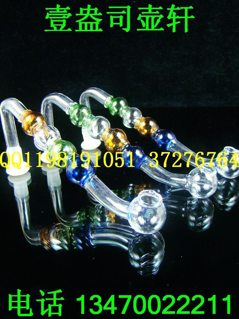 Pot - lengthen multicolour beads glass pot cigarette holder hookah smoking pipe(China (Mainland))