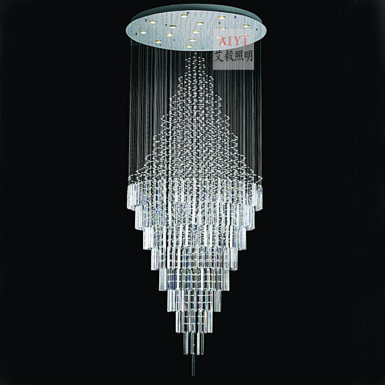 Fashion modern crystal lamp stair lamp restaurant lamp crystal pendant light lighting lamps 8215(China (Mainland))
