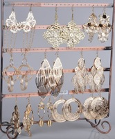 Wholesale jewelry lots 24pairs Mix style Gold plated Fashion Dangling Earrings [E149G*24]
