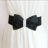 The new 2013 Sweet bow diamond decoration elastic strap women's body shaping belt cummerbund strap wide cummerbund