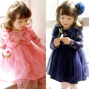 Female child baby 2013 spring children&#39;s clothing 100% cotton clothes princess one-piece dress skirt(China (Mainland))