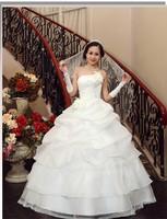The bride wedding dress 2013 wedding formal dress princess tube top wedding dress lotus leaf
